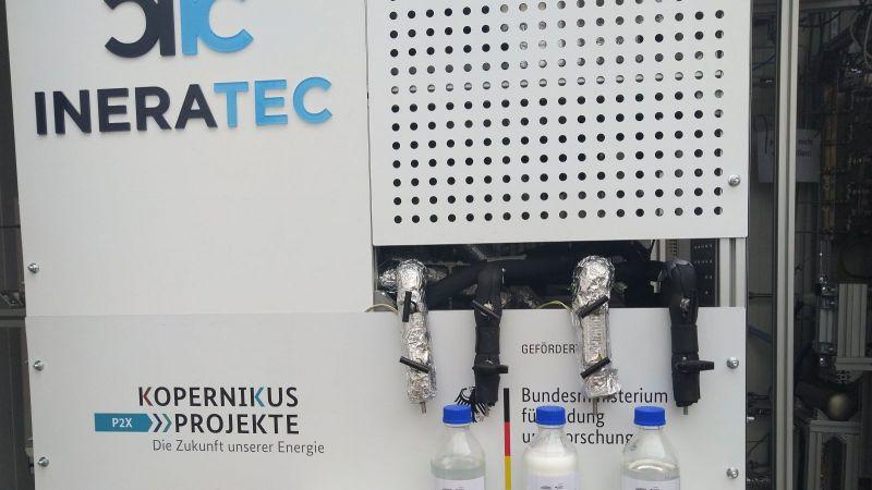 Das Bild zeigt das Modul für Fischer-Tropsch-Synthese des Power-to-Liquid-Containers aus dem Projekt P2X.