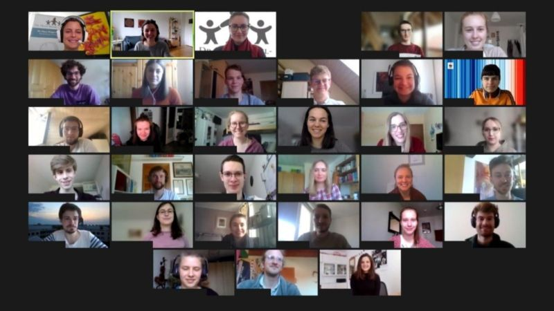 Das Foto zeigt einen Screenshot einer Videokonferenz der Teilnehmer der P2X Sommerwerkstatt 2021.