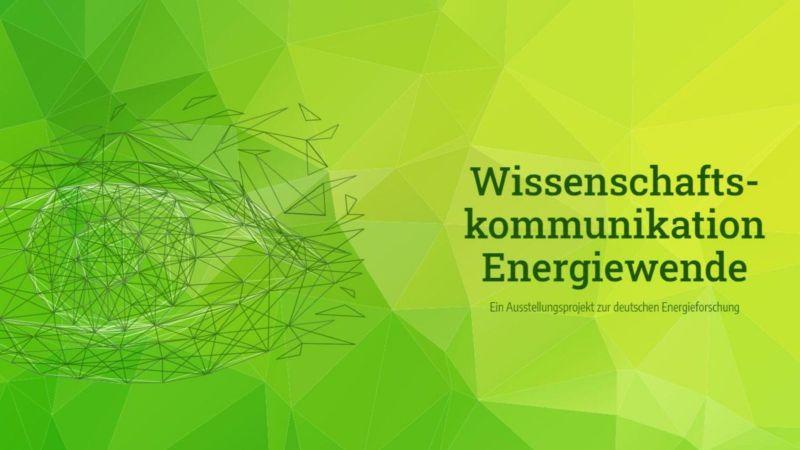 Das Bild zeigt einen Screenshot der Website von Wissenschaftskommunikation Energiewende.