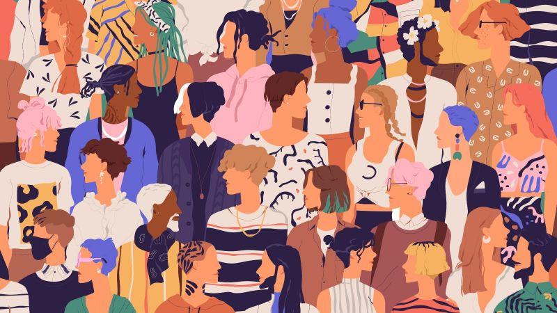 Das Bild zeigt eine große Masse unterschiedlicher Menschen als Symbolbild für Gesellschaft.