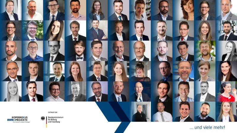 Das Bild zeigt Porträt-Fotos von Teilnehmern des Synergie-Gesamtprojekttreffens 2020.