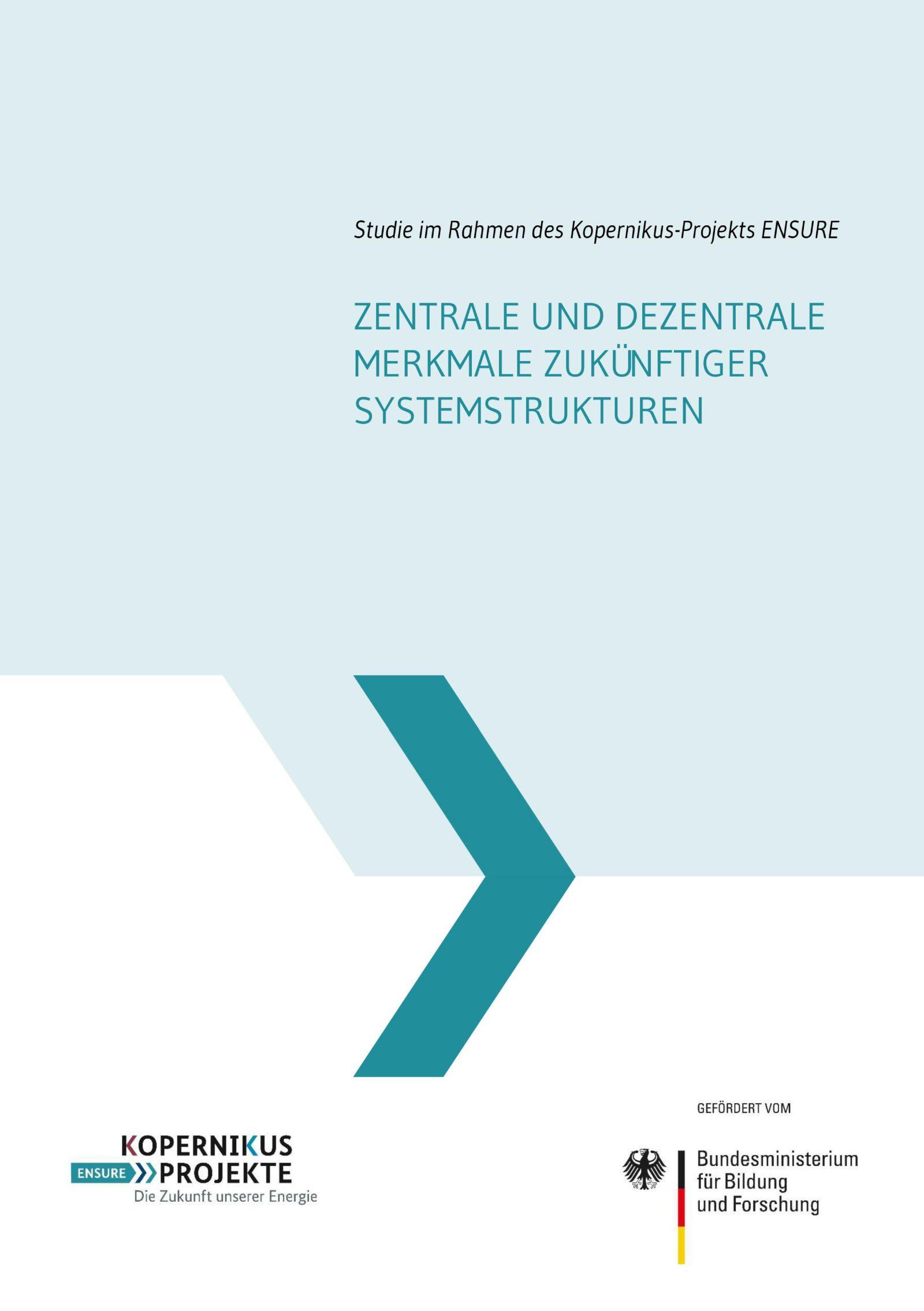 Das Bild zeigt die Titelseite der ENSURE-Studie zum Netzausbau.