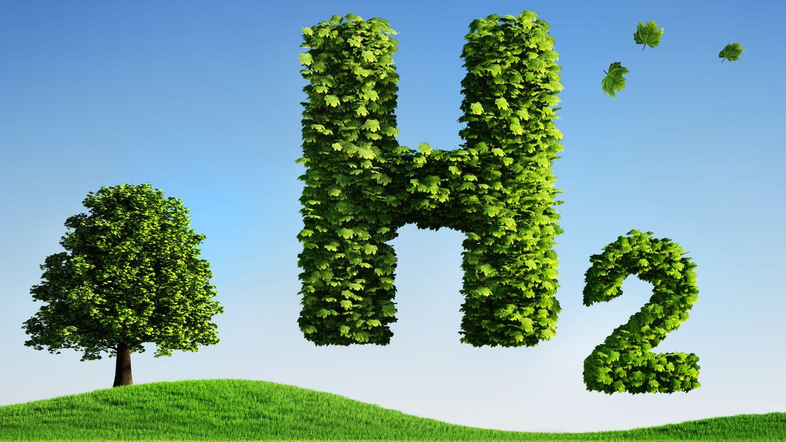 Das Bild zeigt die Abkürzung für Wasserstoff