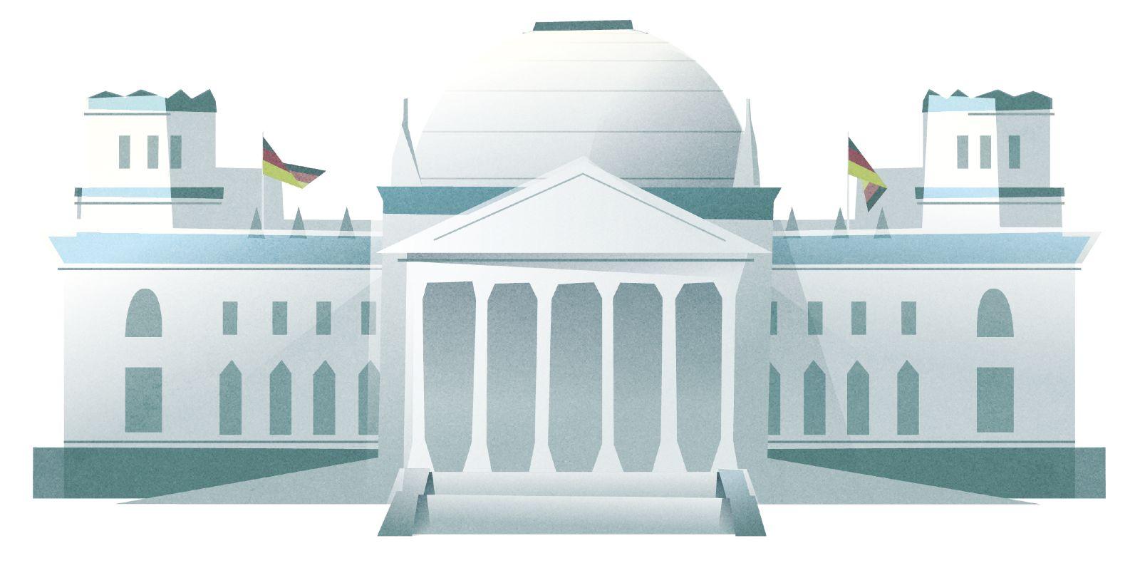 Das Bild zeigt den Deutschen Bundestag.