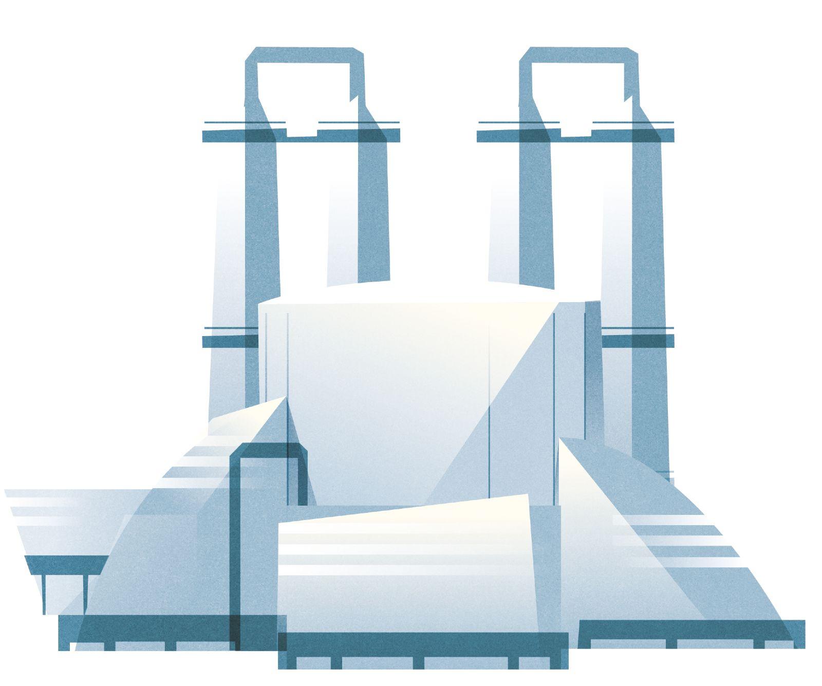 Das Bild zeigt ein Chemiewerk.