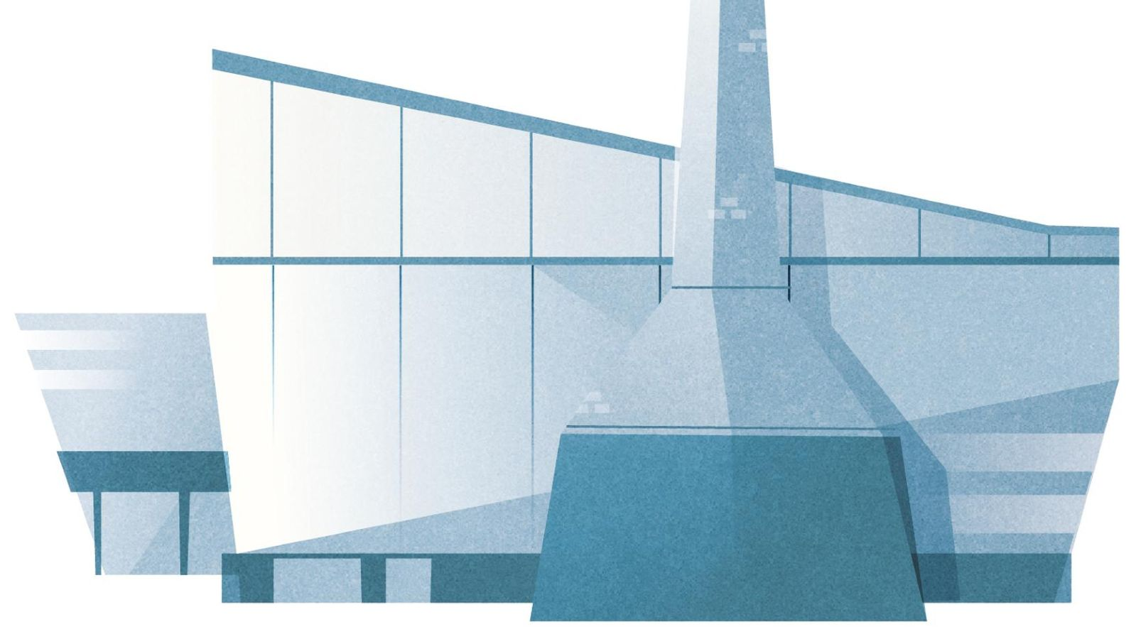 Das Bild zeigt die Zeichnung eines Glaswerks.